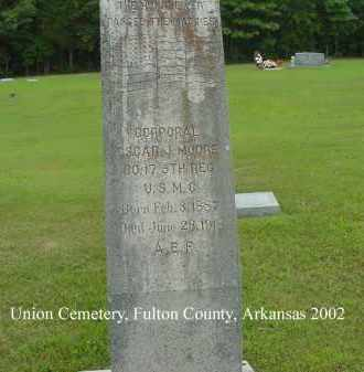 MOORE  (VETERAN WWI), OSCAR J - Fulton County, Arkansas | OSCAR J MOORE  (VETERAN WWI) - Arkansas Gravestone Photos