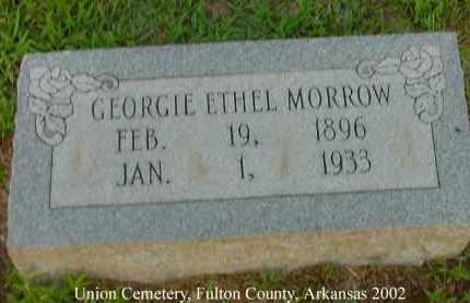 MORROW, GEORGIE ETHEL - Fulton County, Arkansas | GEORGIE ETHEL MORROW - Arkansas Gravestone Photos