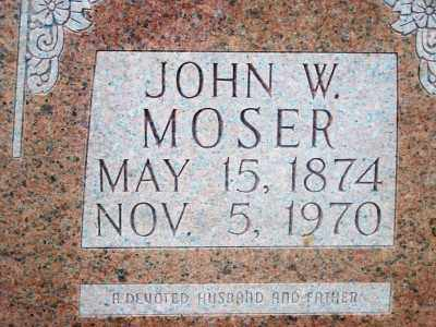 MOSER, JOHN W. - Fulton County, Arkansas | JOHN W. MOSER - Arkansas Gravestone Photos