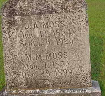MOSS, JAMES AKLES - Fulton County, Arkansas | JAMES AKLES MOSS - Arkansas Gravestone Photos