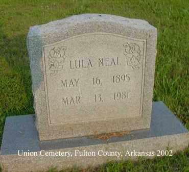 NEAL, LULA - Fulton County, Arkansas   LULA NEAL - Arkansas Gravestone Photos