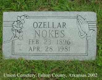 NOKES, OZELLAR - Fulton County, Arkansas   OZELLAR NOKES - Arkansas Gravestone Photos
