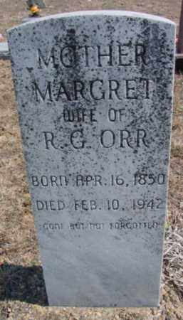 ORR, MARGRET (SCOTT) - Fulton County, Arkansas | MARGRET (SCOTT) ORR - Arkansas Gravestone Photos
