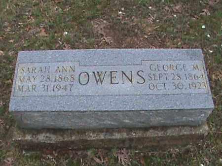 OWENS, SARAH ANN - Fulton County, Arkansas | SARAH ANN OWENS - Arkansas Gravestone Photos