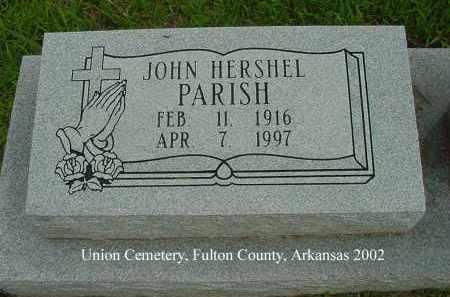 PARISH, JOHN HERSHEL - Fulton County, Arkansas | JOHN HERSHEL PARISH - Arkansas Gravestone Photos