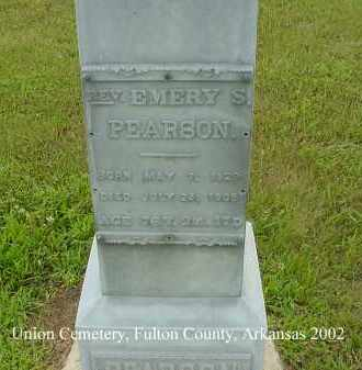PEARSON, EMERY S., REV. - Fulton County, Arkansas | EMERY S., REV. PEARSON - Arkansas Gravestone Photos