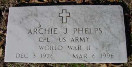 PHELPS (VETERAN WWII), ARCHIE J - Fulton County, Arkansas | ARCHIE J PHELPS (VETERAN WWII) - Arkansas Gravestone Photos