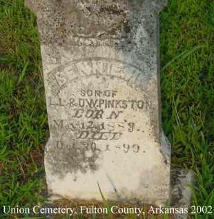PINKSTON, BENNIE H. - Fulton County, Arkansas | BENNIE H. PINKSTON - Arkansas Gravestone Photos