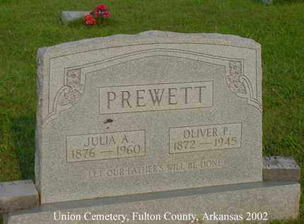 PREWETT, JULIA A. - Fulton County, Arkansas | JULIA A. PREWETT - Arkansas Gravestone Photos