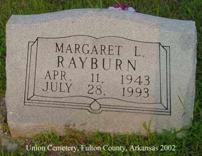 RABURN, MARGARET L. - Fulton County, Arkansas | MARGARET L. RABURN - Arkansas Gravestone Photos