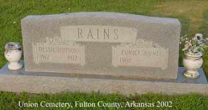 HUTSON RAINS, DESSIE - Fulton County, Arkansas | DESSIE HUTSON RAINS - Arkansas Gravestone Photos