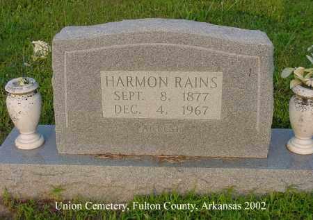 RAINS, HARMON - Fulton County, Arkansas | HARMON RAINS - Arkansas Gravestone Photos