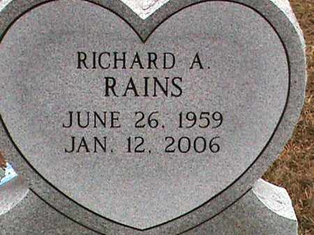RAINS, RICHARD A. - Fulton County, Arkansas | RICHARD A. RAINS - Arkansas Gravestone Photos