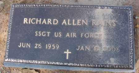 RAINS (VETERAN), RICHARD ALLEN - Fulton County, Arkansas | RICHARD ALLEN RAINS (VETERAN) - Arkansas Gravestone Photos
