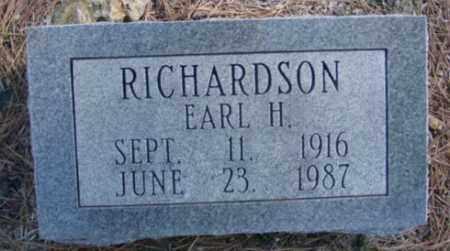 RICHARDSON, EARL H. - Fulton County, Arkansas | EARL H. RICHARDSON - Arkansas Gravestone Photos