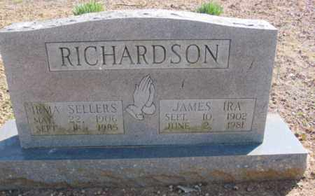 SELLERS RICHARDSON, IRMA - Fulton County, Arkansas | IRMA SELLERS RICHARDSON - Arkansas Gravestone Photos
