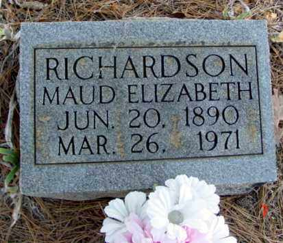 RICHARDSON, MAUD ELIZABETH - Fulton County, Arkansas | MAUD ELIZABETH RICHARDSON - Arkansas Gravestone Photos