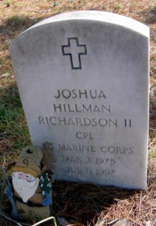 RICHARDSON II (VETERAN), JOSHUA HILLMAN - Fulton County, Arkansas | JOSHUA HILLMAN RICHARDSON II (VETERAN) - Arkansas Gravestone Photos