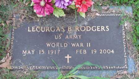 RODGERS (VETERAN WWII), LECURGAS B - Fulton County, Arkansas | LECURGAS B RODGERS (VETERAN WWII) - Arkansas Gravestone Photos