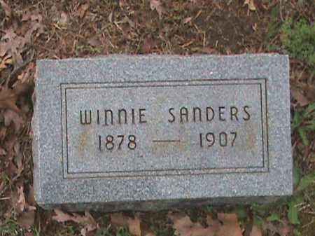 SANDERS, WINNIE - Fulton County, Arkansas | WINNIE SANDERS - Arkansas Gravestone Photos