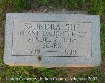 SEARS, SAUNDRA SUE - Fulton County, Arkansas   SAUNDRA SUE SEARS - Arkansas Gravestone Photos