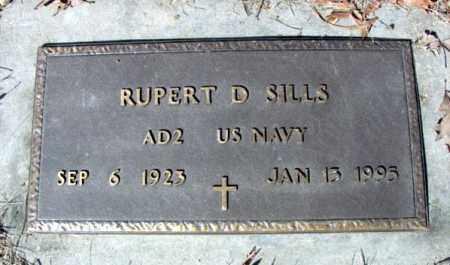 SILLS (VETERAN), RUPERT D - Fulton County, Arkansas | RUPERT D SILLS (VETERAN) - Arkansas Gravestone Photos