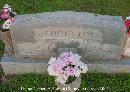 "SINGLETON, ARCHIBALD ""ARCH"" - Fulton County, Arkansas | ARCHIBALD ""ARCH"" SINGLETON - Arkansas Gravestone Photos"
