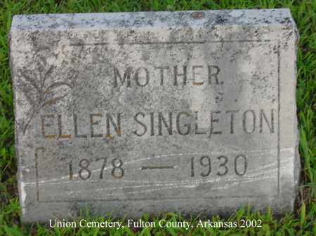 SINGLETON, ELLEN - Fulton County, Arkansas   ELLEN SINGLETON - Arkansas Gravestone Photos