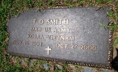 SMITH (VETERAN 2 WARS), T D - Fulton County, Arkansas   T D SMITH (VETERAN 2 WARS) - Arkansas Gravestone Photos