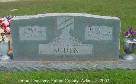 SODEN, GOLDIE B. - Fulton County, Arkansas | GOLDIE B. SODEN - Arkansas Gravestone Photos