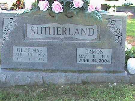 SUTHERLAND, OLLIE MAE - Fulton County, Arkansas | OLLIE MAE SUTHERLAND - Arkansas Gravestone Photos