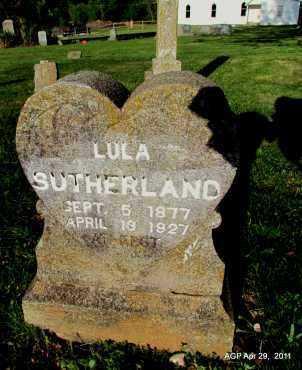 SUTHERLAND, LULA - Fulton County, Arkansas | LULA SUTHERLAND - Arkansas Gravestone Photos