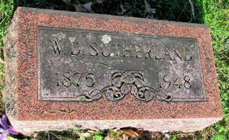 SUTHERLAND, W D - Fulton County, Arkansas   W D SUTHERLAND - Arkansas Gravestone Photos