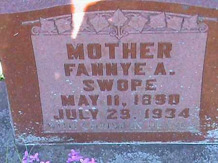 SWOPE, FANNYE A - Fulton County, Arkansas | FANNYE A SWOPE - Arkansas Gravestone Photos