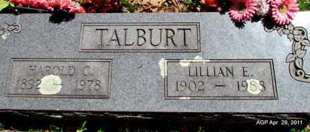 TALBURT, LILLIAN E - Fulton County, Arkansas | LILLIAN E TALBURT - Arkansas Gravestone Photos