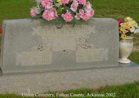 TANNER, LUE - Fulton County, Arkansas | LUE TANNER - Arkansas Gravestone Photos