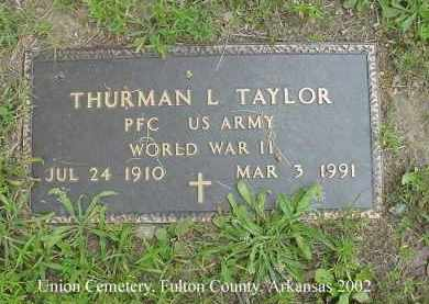 TAYLOR  (VETERAN WWII), THURMAN L - Fulton County, Arkansas | THURMAN L TAYLOR  (VETERAN WWII) - Arkansas Gravestone Photos