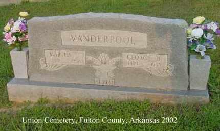 VANDERPOOL, MARTHA E. - Fulton County, Arkansas | MARTHA E. VANDERPOOL - Arkansas Gravestone Photos