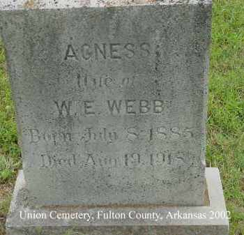 WEBB, AGNESS - Fulton County, Arkansas   AGNESS WEBB - Arkansas Gravestone Photos