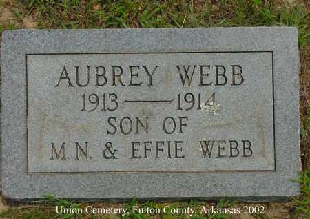 WEBB, AUBREY - Fulton County, Arkansas | AUBREY WEBB - Arkansas Gravestone Photos