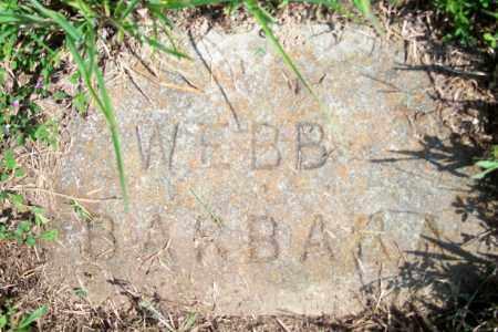 WEBB, BARBARA - Fulton County, Arkansas | BARBARA WEBB - Arkansas Gravestone Photos