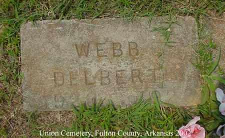 WEBB, DELBERT - Fulton County, Arkansas   DELBERT WEBB - Arkansas Gravestone Photos
