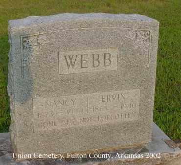 WEBB, ERVIN - Fulton County, Arkansas | ERVIN WEBB - Arkansas Gravestone Photos