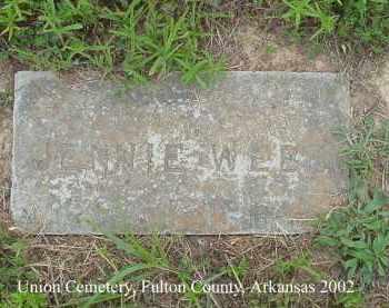 WEBB, JENNIE - Fulton County, Arkansas   JENNIE WEBB - Arkansas Gravestone Photos