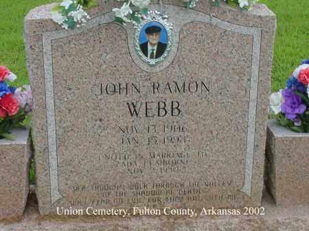 WEBB, JOHN RAMON - Fulton County, Arkansas | JOHN RAMON WEBB - Arkansas Gravestone Photos