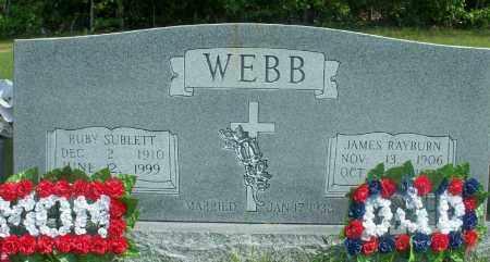 SUBLETT WEBB, RUBY - Fulton County, Arkansas | RUBY SUBLETT WEBB - Arkansas Gravestone Photos