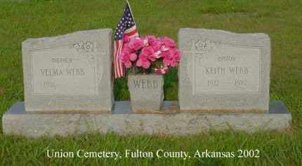 WEBB, KEITH H. - Fulton County, Arkansas | KEITH H. WEBB - Arkansas Gravestone Photos