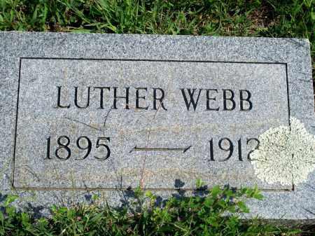 WEBB, LUTHER - Fulton County, Arkansas | LUTHER WEBB - Arkansas Gravestone Photos