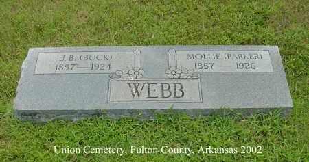 PARKER WEBB, MOLLIE - Fulton County, Arkansas   MOLLIE PARKER WEBB - Arkansas Gravestone Photos
