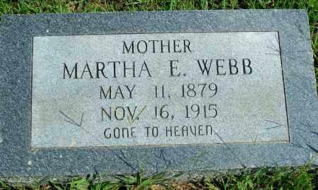 WEBB, MARTHA E. - Fulton County, Arkansas | MARTHA E. WEBB - Arkansas Gravestone Photos